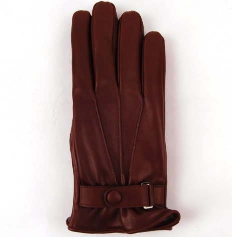 Tom Dick And Harry Men S Cognac Brown Leather Gloves